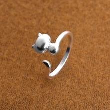 送料無料 猫 キャット リング meishichao 925スターリングベルmeishichao 925 for cat rings women 低価格 sterling silver 2020A/W新作送料無料