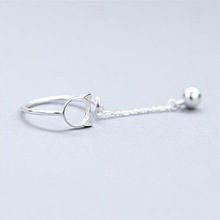 送料無料 猫 キャット リング メーカー再生品 メモリキャットベル925スターリングsole memory cat bell simple silver trendy 日本未発売 sterling 925