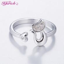 買い物 送料無料 猫 キャット リング hfarich925hfarich korean delicate ring female 925 cat little 激安超特価 silver