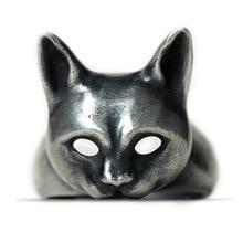 【送料無料】猫 キャット リング デザインハンドメイドシルバーオープンbaidafely design handmade charm cat 925 silver wild open
