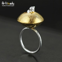 【送料無料】猫 キャット リング artilady 925スターリングartilady 925 sterling silver cat in flower ring for women