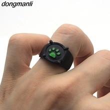 送料無料 猫 安い お気にいる キャット リング プリントリングp1045 dongmanli for green paw print women ring