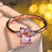 送料無料 猫 キャット リング ピンクjunxinjunxin 配送員設置送料無料 animal 正規店 cat dog women heart bear claws rings pink for