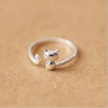 送料無料 猫 キャット リング modaone925スターリング3dmodaone real 925 3d 激安 お買い得 キ゛フト animal silver ring cat sterling 人気 おすすめ tail