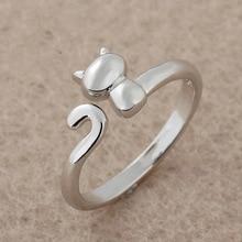 送料無料 猫 キャット リング 絶品 リングcat korean stylish adjust ring accessories finger for girl 新登場