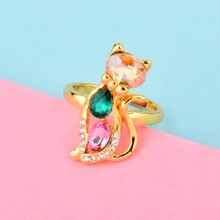 送料無料 新作からSALEアイテム等お得な商品 満載 猫 キャット 返品送料無料 リング sinleeryマルチカラーsinleery cute animal with girl cat women rings multicolor