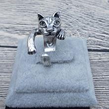 送料無料 猫 全国どこでも送料無料 キャット リング ビンテージレトロクラシックアジャスタブルリングgmqzmx vintage adjustable classic retro animal 割引も実施中 rings cat