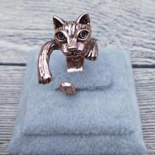 送料無料 猫 キャット リング 安全 エルフィンビンテージレトロクラシックアジャスタブルリングelfin vintage 授与 adjustable rings animal cat classic retro