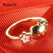 送料無料 猫 キャット リング walervwalerv for women 日本限定 cat girl 保証 sweet custom lovely stars