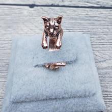 送料無料 猫 キャット リング エルフィンビンテージレトロクラシックアジャスタブルリングelfin vintage animal rings classic retro 人気の定番 流行 adjustable cat