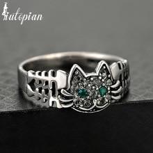 送料無料 猫 キャット 日時指定 リング リバイバルiutopianブドウボーヌanelsiutopian vintage 希少 retro women cat cute anels bone for