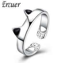 送料無料 猫 キャット リング erluer aruelbagueerluer 限定Special Price aruel for rings love engagement bague women girl お買い得