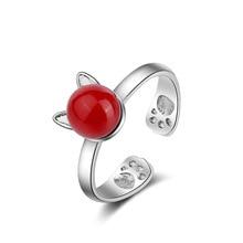 送料無料 格安激安 猫 キャット リング ajustablelovely cat ear open korean pearl ring 全店販売中 ajustable gift