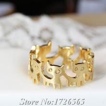 【送料無料】猫 キャット リング ボヘミアンcocopawsネコラップシックco co paws funny kitten wrap ring boho chic mid finger men