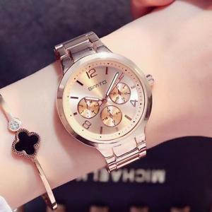 【送料無料】腕時計 シルバーステンレススチールファッションウォッチクオーツアナログsilver womens stainless steel luxury fashion watches quartz analog wristwatch
