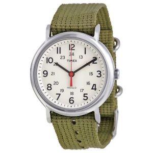 【送料無料】腕時計 メンズウィークエンダーオリーブファブリックウォッチtimex t2n651, mens weekender olive fabric watch, indiglo