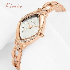 【送料無料】腕時計 ローズゴールドラインストーンクリスタルレディースデザイナーウォッチhigh quality oval rose gold rhinestone crystal watch women ladies designer gifts