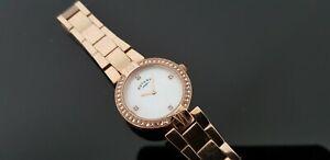 【送料無料】腕時計 ローズゴールドメッキブレスレットロータリーレディースrotary rose gold plated ladies bracelet watch