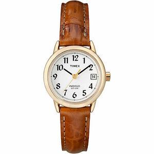 【送料無料】腕時計 リーダーtimex t2j761, womens easy reader, brown leather watch, indiglo, date