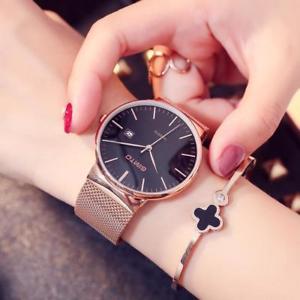 【送料無料】腕時計 スチールブレスレットカレンダークォーツアナログluxury full steel bracelet circular wristwatches calendar quartz womens analog