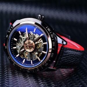 【送料無料】腕時計 スケルトンオートマチックウォッチwaterproof skeleton automatic watch