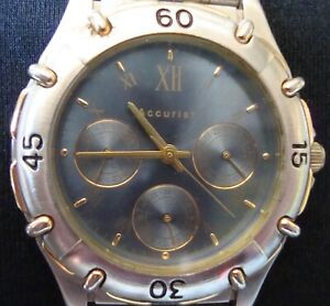 【送料無料】腕時計 スチールクロノグラフバッテリーneues angebotvintage accurist gold and steel day date chronograph  battery working sp40
