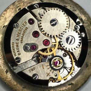 【送料無料】腕時計 ボーメメルシエムーブメントbaume mercier eta 2360 watch movement, manual runs and keeps time