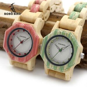 【送料無料】腕時計 ボボレディースクォーツオクタゴンクリスマスプレゼントbobo bird ladies quartz watches octagon natural bamboo xmas gifts for her women
