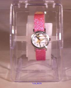 【送料無料】腕時計 バレリーナシュガーピンクストラップchildrens time teaching wristwatch ballerina with sugar pink sparkle strap w1