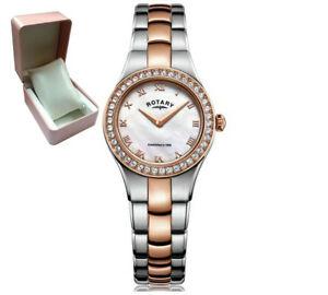 【送料無料】腕時計 ロータリーポンドレディースローズゴールドステンレススチールシルバートーンreduced* rotary lb0350107 ladies 2 tone silverrose gold stainless steel watch