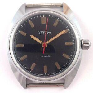 【送料無料】腕時計 ロシアソヴォストークゼンマイソ*russian soviet vostok windup watch ussr 80s, *us seller* 1385