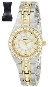 【送料無料】腕時計 レディースクイーンズコートシルバーゴールド¥reduced* relic womens ladies zr11775 queens court silver amp; gold watch rrp 140