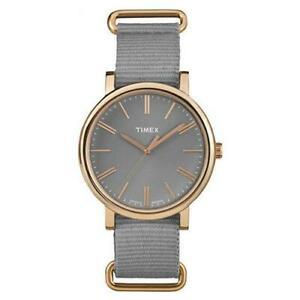 【送料無料】腕時計 ドーナテンポナイロンtimex orologio uomo donna original tw2p88600 quarzo tempo tessuto nylon grigio