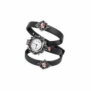 【送料無料】腕時計 ゴシックスワロフスキーアメジストクリスタルビクトリアalchemy gothic heartfelt swarovski amethyst crystal victorian floral watch