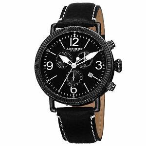 【送料無料】腕時計 スイスクロノグラフブラックウォッチ