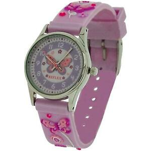 【送料無料】腕時計 ピンクバルクリフレックスタイム10x bulk for school reflex time teacher girls kids pink butterfly watch refk0012