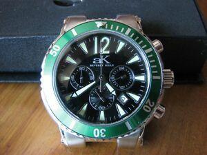 【送料無料】腕時計 ケイストラップクロノグラフadee kaye chronograph date watch with two straps