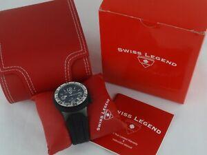 【送料無料】腕時計 スイスメンズネプチューンダイブブラックシリコンウォッチストラップバッテリー
