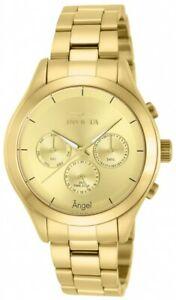 【送料無料】腕時計 ソリッドステンレススチールブレスレットinvicta 12466 womens angel gold plated solid stainless steel bracelet watch