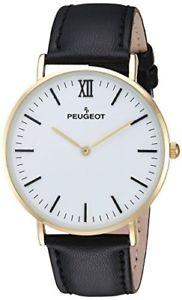 【送料無料】腕時計 プジョーメンズkゴールドメッキスリムクオーツpeugeot mens 14k gold plated quartz metal and leather slim watch 2050wt