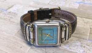 【送料無料】腕時計 トーンスターリングシルバーレザーストラップecclissi two tone sterling silver womens wristwatch w leather strap 8h7560
