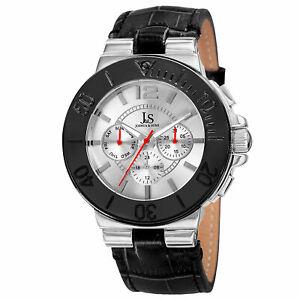 【送料無料】腕時計 メンズジョシュアタイムゾーンレザーストラップウォッチmens joshua amp; sons js96ss two time zone date complication leather strap watch