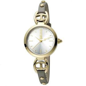 【送料無料】腕時計 キャバリロゴベラペレゴールドスリムorologio donna just cavalli logo jc1l009l0035 vera pelle grigio gold slim