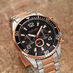 【送料無料】腕時計 シュタイナートーンブレスレットスイス mens august steiner as8119ttr twotone swiss multifunction bracelet watch