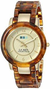 【送料無料】腕時計 コレクションレディースアナログゴールドブラウンケース la mer collections womens cute analog display watch gold brown leopard case