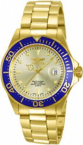【送料無料】腕時計 メンズプロダイバークォーツステンレススチールinvicta mens pro diver quartz 200m goldplated stainless steel watch 14124