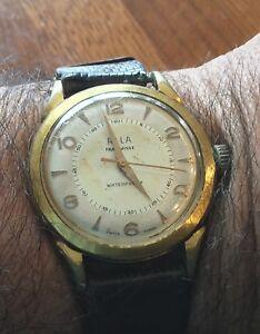 【送料無料】腕時計 ビンテージリラプラークancienne montre vintage rila suisse rare 17 rubis mecanique plaque or