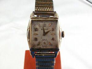 【送料無料】腕時計 ビンテージキャリバーvintage bulova 17j wristwatch caliber 10bt runs