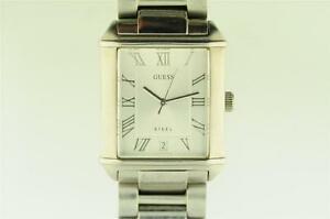 【送料無料】腕時計 スチールクオーツメンズmens guess steel quartz wristwatch with date keeping time