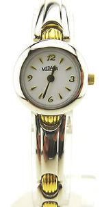 【送料無料】腕時計 ロンボクロッジバーレジストケーシングmedana, 3 bar water resist, damenuhr, stahlgehuse, bicolor